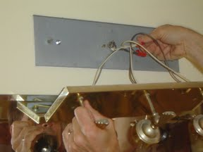 Bath Light Fixtures Power Outlet replacement of bathroom light fixture